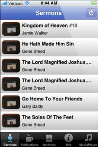 iOS Sermons